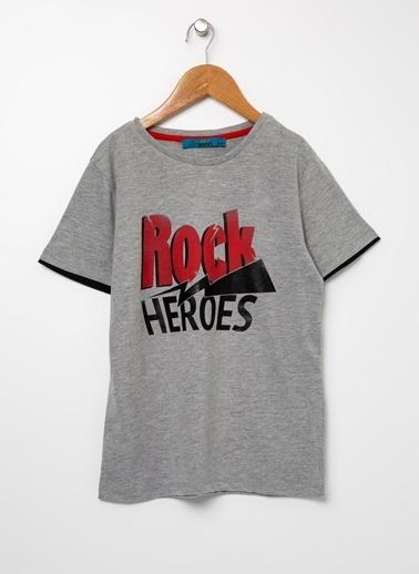Funky Rocks Tişört Gri